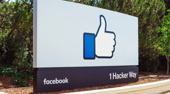 Sign at Facebook Headquarters